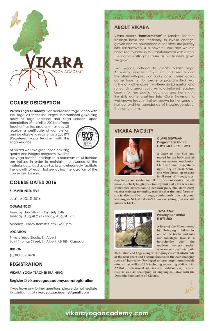 Vikara Academy Poster vertical July 2016