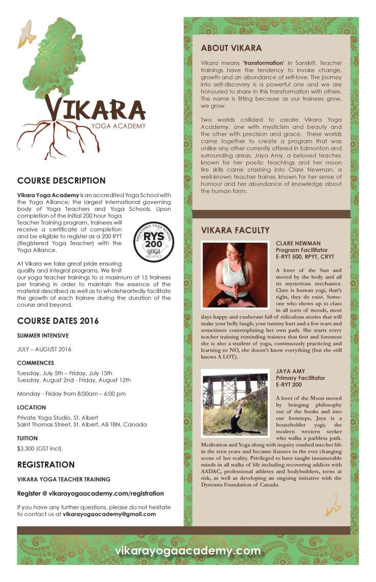 Vikara Academy Poster vertical July 2016